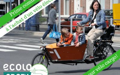 Prime communale à l'achat d'un vélo électrique