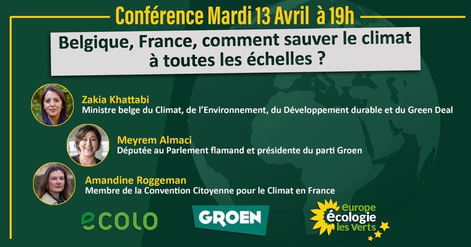 Conférence Europe Ecologie les Verts …c'est ce 13/04/2021