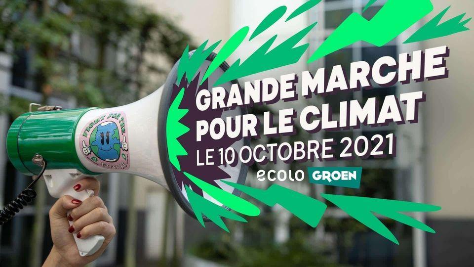 Toutes et tous avec Ecolo à la Manif Climat du 10/10/2021